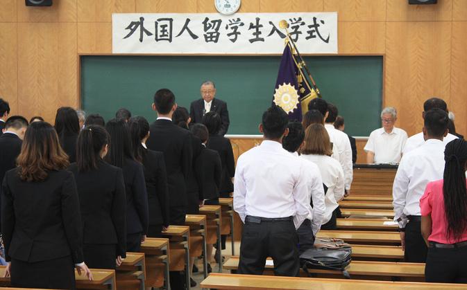 平成26年度秋季 外国人留学生入学式が挙行されました