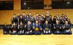 渡辺正行さんが剣道部と稽古をしました