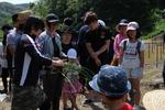 【夢米棚田プロジェクト】七島藺の植え付けを行いました
