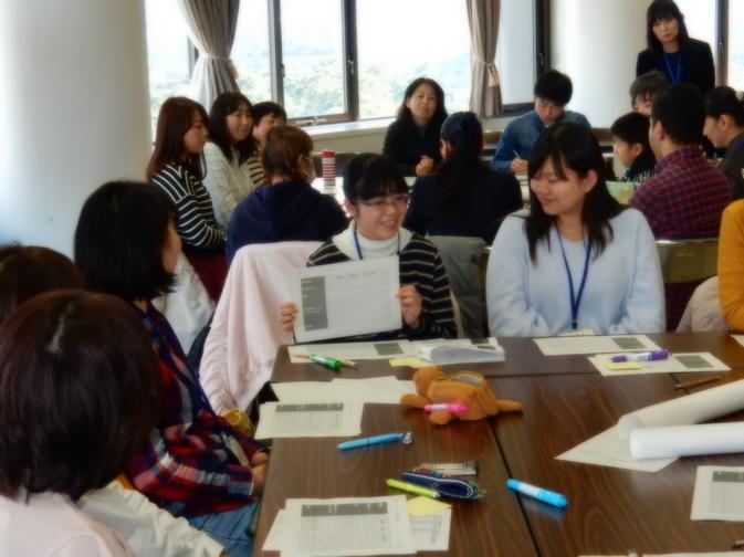 国際経営学科1年生、別府市民のワークショップに参加