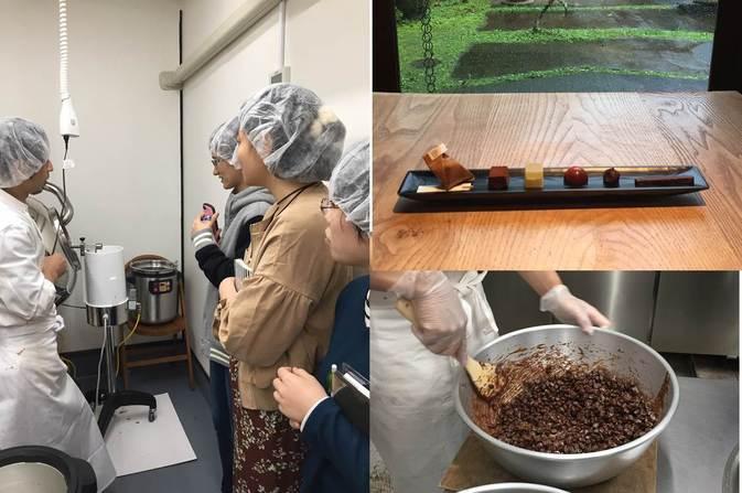 発酵食品学科の学生が、由布院のチョコレート工房を見学