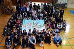旭日小学校で国際交流と合同美術授業を行いました
