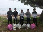 別府大学青年団がビーチクリーン活動を行いました