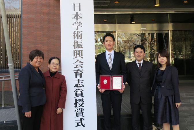 卒業生の孟憲巍さんが第8回(平成29年度)日本学術振興会育志賞を受賞しました