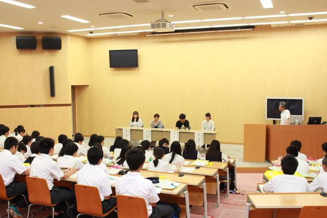 【高大連携】佐伯豊南高校1年生が「1日大学体験」を行いました