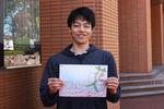 演劇公演「花人」で人間関係学科の麻生幹太さんが主役に抜擢!