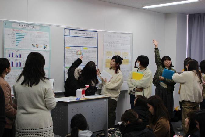 【初等教育科】保育・教職実践演習におけるポスター発表が行われました