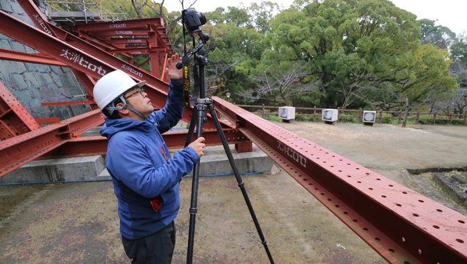 【私立大学研究ブランディング事業】熊本城内石垣の3D計測調査(第Ⅲ期調査)を行いました