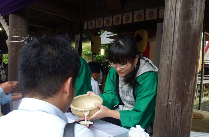 【発酵食品学科】白鬚田原神社のどぶろく祭りに参加!