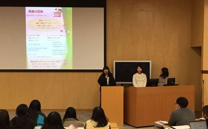 【食物栄養学科】保健室と食物栄養学科との健康指導について
